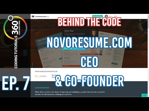 Behind the Code Ep. 7: NovoResume.com CEO and Co-Founder ft. Stefan Polexe