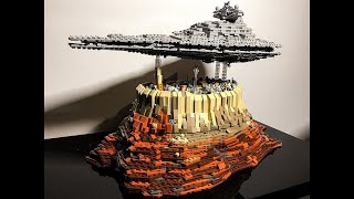 Speedbuild - Lego Star Wars Empire over Jedha City - MOC 18916 made by onecase