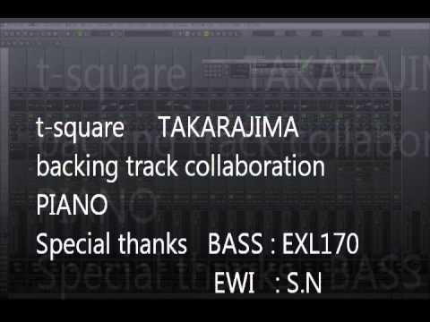 t square takarajima backing track piano