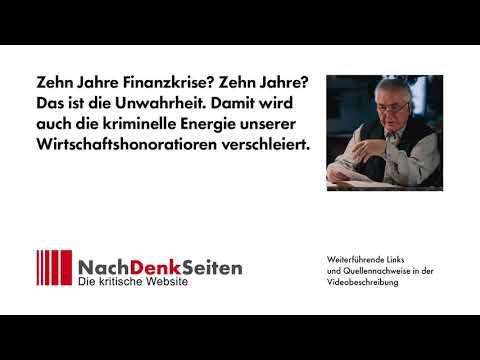 Zehn Jahre Finanzkrise? Zehn Jahre? Das ist die Unwahrheit