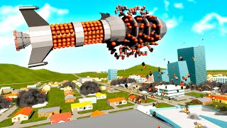 Can This Insane Cluster Missile Destroy the Entire New City of Bricksville in Brick Rigs?