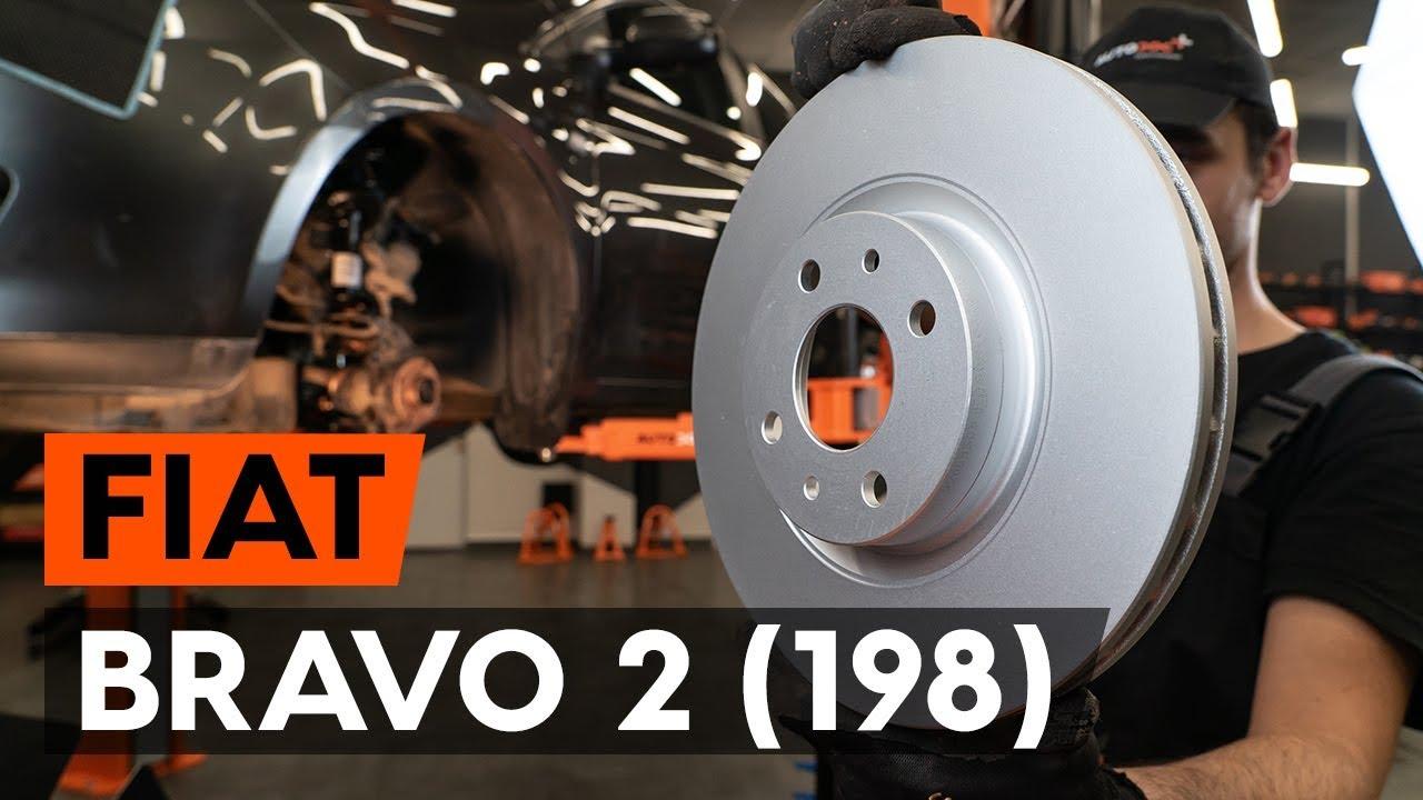 How to replace front brake discs / front brake rotors on FIAT BRAVO 2 (198)  [TUTORIAL AUTODOC]