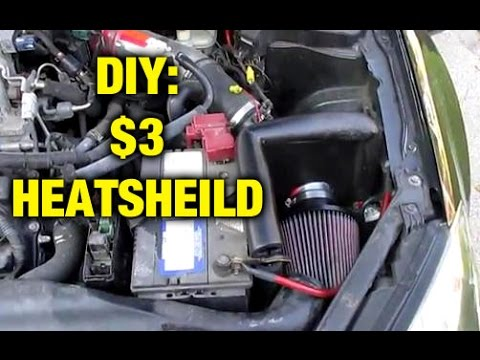 Custom Heat Shield For Short Ram Intake DIY for $3