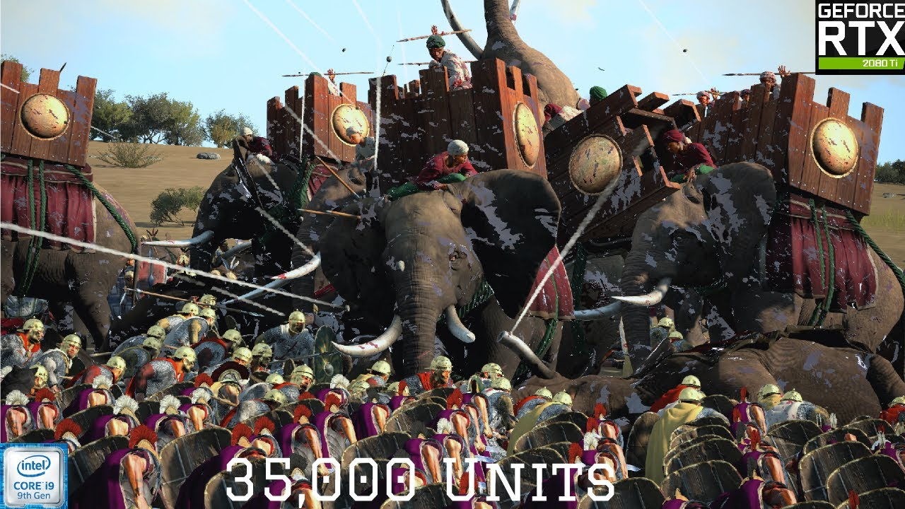 Huge 35,000 units battle Part 2 | Rome Total War 2:  - RTX 2080 Ti Max settings 1080p
