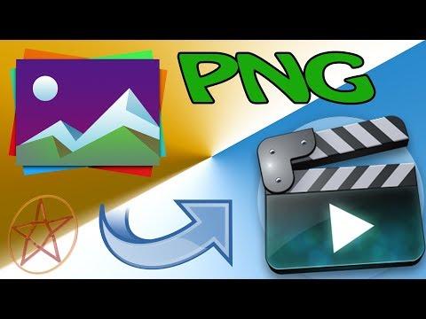 Как из Png картинок сделать видео с прозрачным фоном