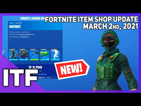 Fortnite Item Shop *NEW* FRESH'S LOCKER BUNDLE! [March 2nd, 2021] (Fortnite Battle Royale) - I Talk