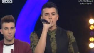 the voice   δίωνας κουμπούρας vs δημήτρης γεωργακούδης vs γιάννης ζαφειρίου   4o battle