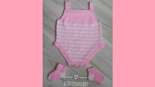 Bebek Tulumu Yapılışı (Детские ромперы, Baby Rompers, Bébé barboteuses, Babyspielanzug) #3