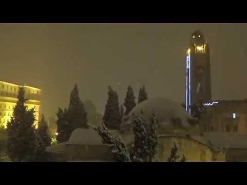 Jan., 2015: Jerusalem Snow Meditation vs New York Blizzard