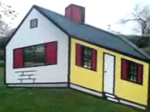 Roy Lichtenstein - House I (1996/1998) - optical illusion - YouTube