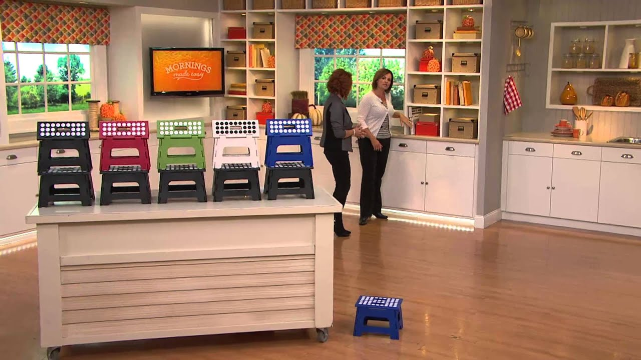 Kikkerland Set of 2 Easy-Fold and Easy-Store Step Stools with Dan Hughes - YouTube : kikkerland easy fold step stool - islam-shia.org