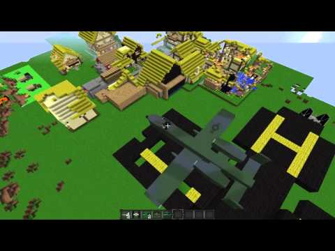 Minecraft Ep. 54 Flan's Mods - Manus' Helis, Tie Fighters!