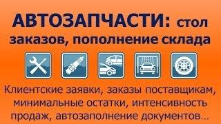 Продажа автозапчастей: создание заказов поставщику и управление складскими запасами(ДАЛИОН:АВТО -- удобные и функциональные программы для автобизнеса. www.dalionauto.ru., 2013-10-23T20:44:45.000Z)