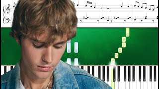 Justin Bieber - Where You Go I Follow (Piano Tutorial Sheets)
