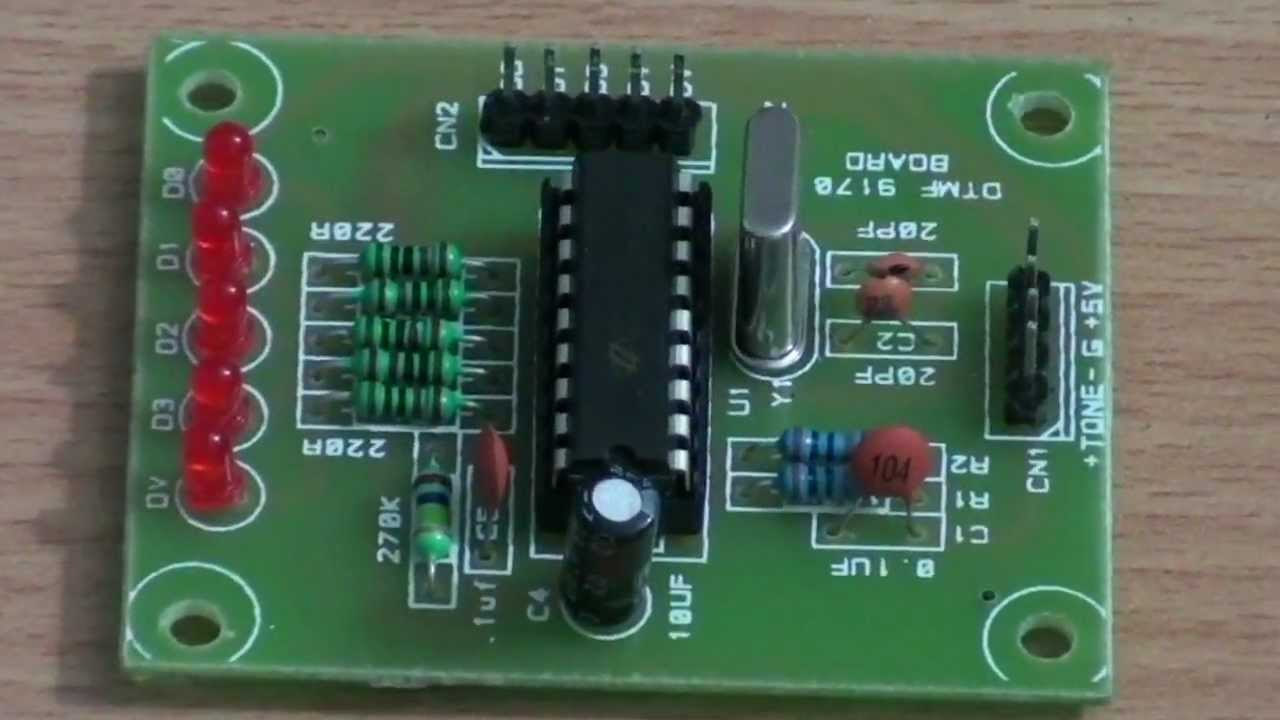 dtmf decoder circuit youtube rh youtube com DTMF Decoder Raspberry Pi LED Connection MT8870 DTMF Decoder