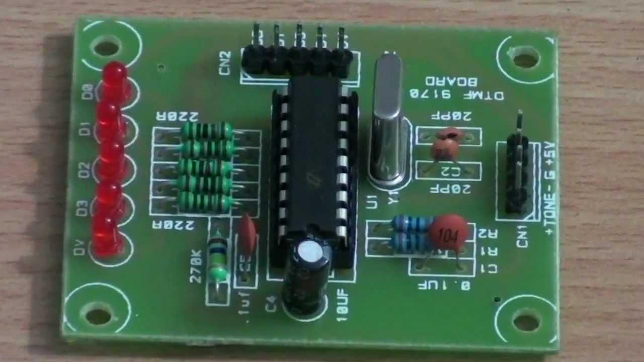 Dtmf Decoder Ic Mt8870 Pin Diagram Yamaha C3 Wiring Circuit Youtube