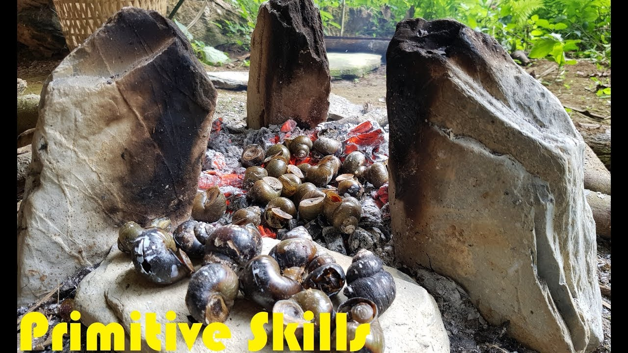 Primitive Skills: Finding food-and-cooking the primitives way (Primitive-Technology-Food)