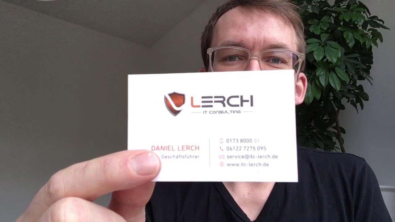 Visitenkartencheck 12 Für It Consulting Lerch Wiesbaden
