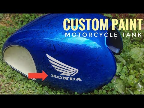How to Custom Painting Motorcycle Tank