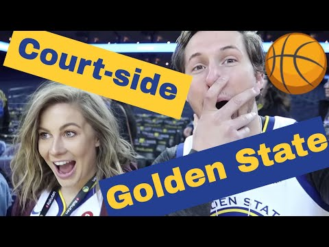 WE WENT COURTSIDE AT AN NBA GAME!  Shawn  Andrew