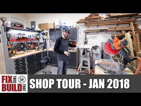 Fix This Build That Woodworking Workshop Tour – Jan 2018