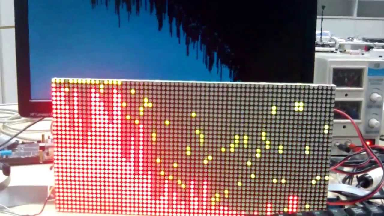 Music FFT waveform on double color LED arry screen based on stm32