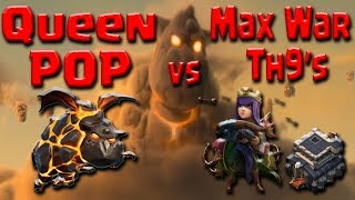 NEW Queen POP LaLoon TH9 MAX WAR ATTACK After UPDATE   Clash of Clans Guide