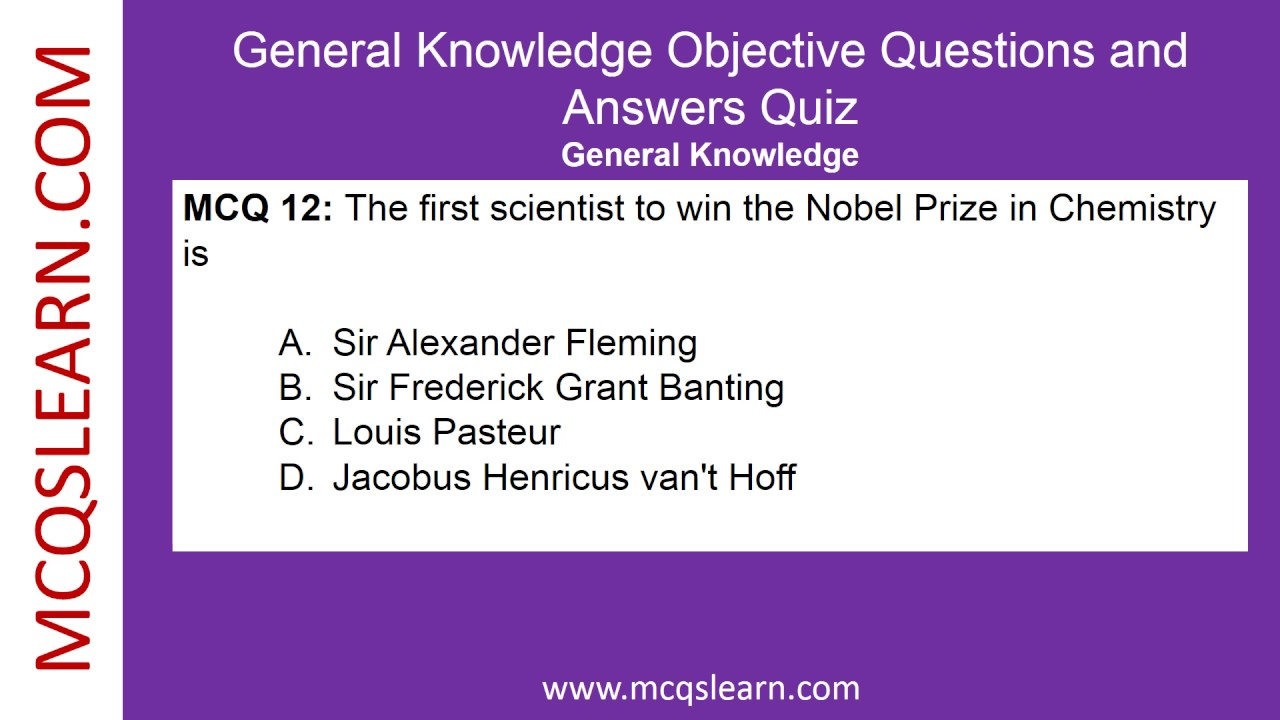 General Knowledge Objective Questions and Answers ...