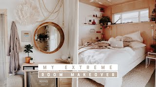 EXTREME ROOM MAKEOVER | MY NEW BEDROOM AS A SINGLE LADY!!!