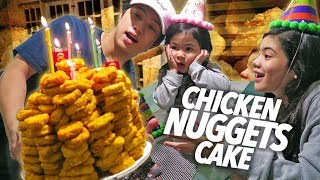 Download Video Chicken Nuggets Cake Birthday Surprise!! | Ranz and Niana MP3 3GP MP4