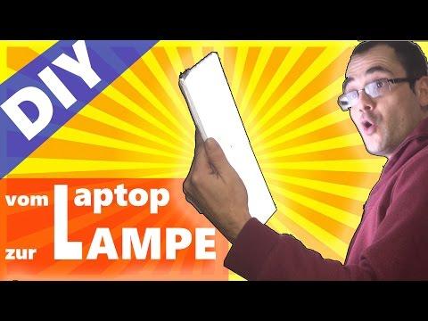 DIY: Alten Laptop in eine Lampe verwandeln RECYCLE IT!