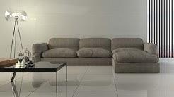 Super Light Grey Polished Porcelain Floor Tile - 600 x 600mm