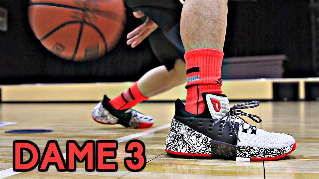 Adidas DAME 3 (D. Lillard 3) Performance Review! - YouTube b293f332d214