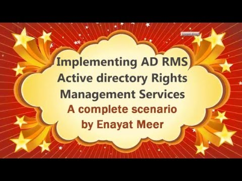 Active directory Rights Management Services - 20412d M7