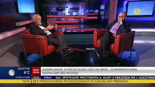Janusz Korwin Mikke MOCNO O: dostępie do broni, handlu w niedzielę (Polska w kawałkach) 13.10.2017