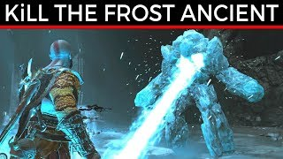 God Of War How To Kill The Frost Ancient Fast & Easy Way Gameplay Walkthrough Game Guide PS4 Pro