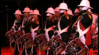 Royal Marines Drum Corps Performance at  Edinburgh Military Tattoo 2011