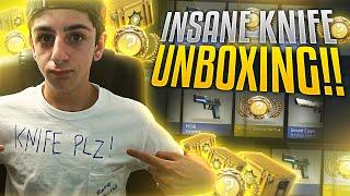 CS:GO - INSANE KNIFE UNBOXING w/ REACTION | FaZe Rug