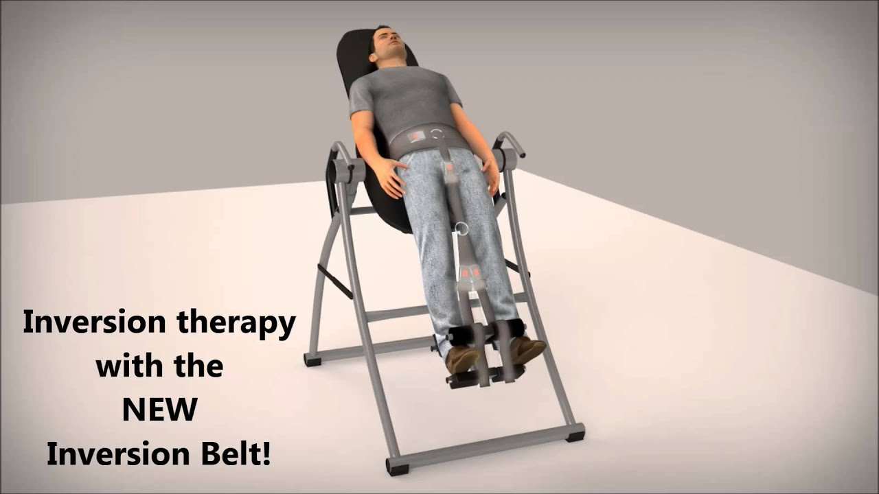 Inversion Therapy with Inversion Belt Animation