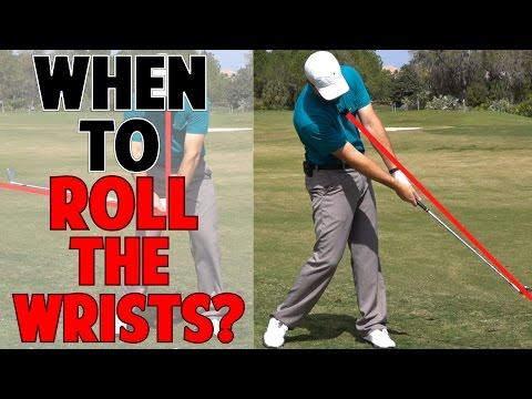WHEN SHOULD YOU START ROLLING THE WRIST IN THE DOWNSWING?