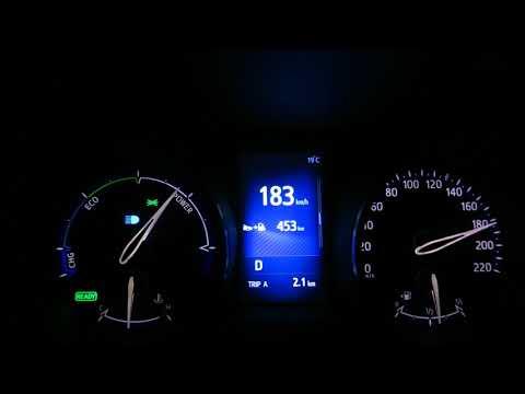 Toyota C-HR Hybrid acceleration - top speed 0-183 km/h
