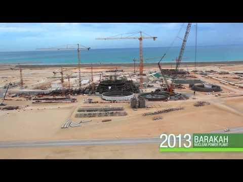 Construction progress at UAE's Barakah Nuclear Power Plant, 2014