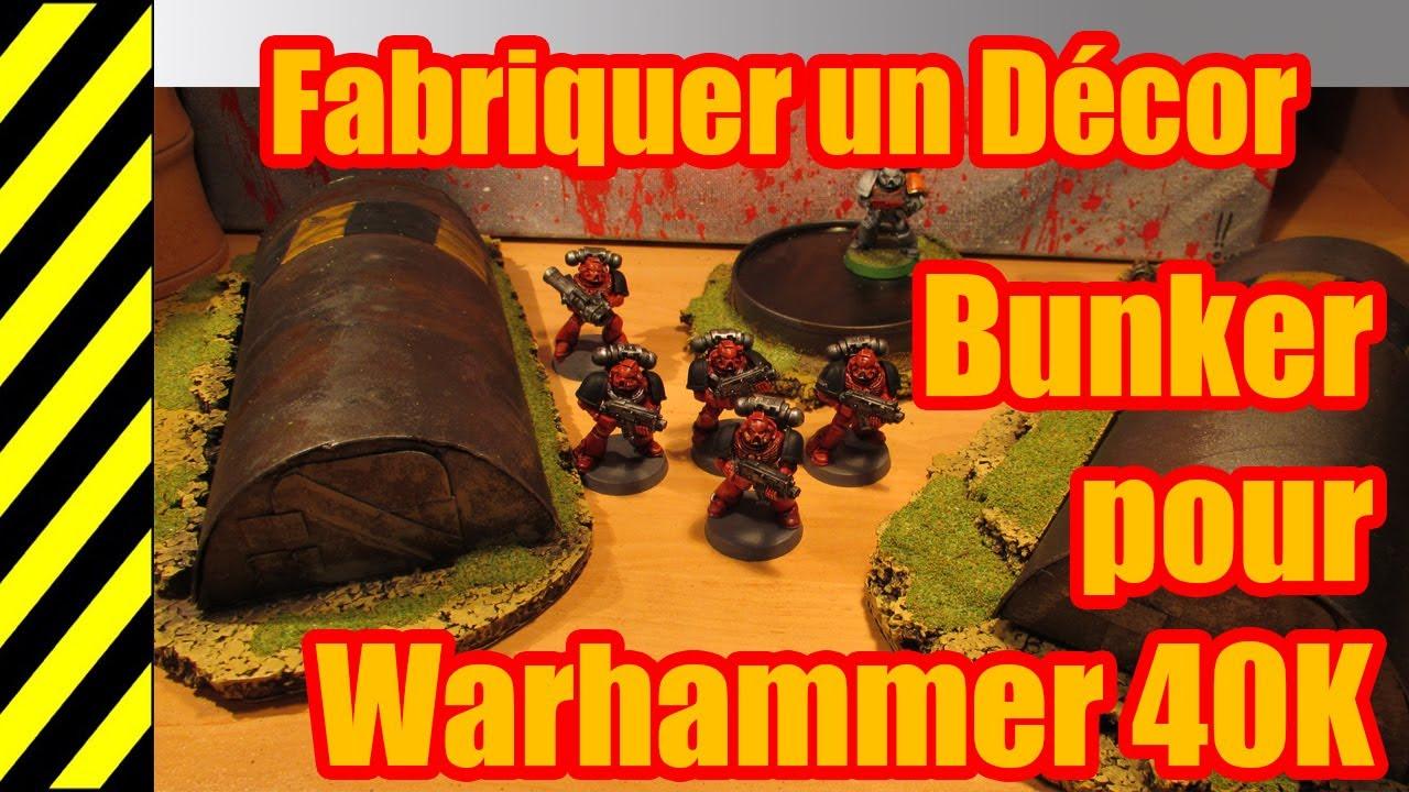 Tuto fabriquer un d cor bunker pour warhammer 40k for Decor 40k
