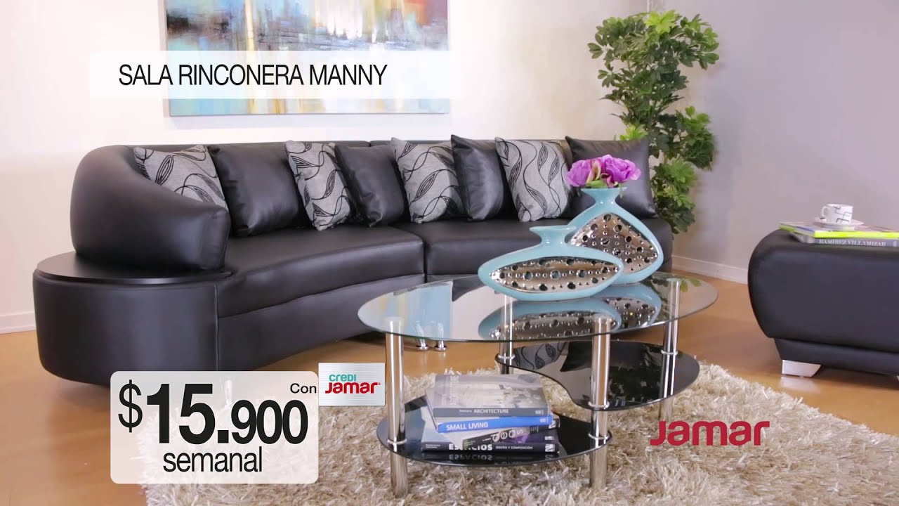 Comercial muebles jamar sala rinconera manny youtube for Muebles namar