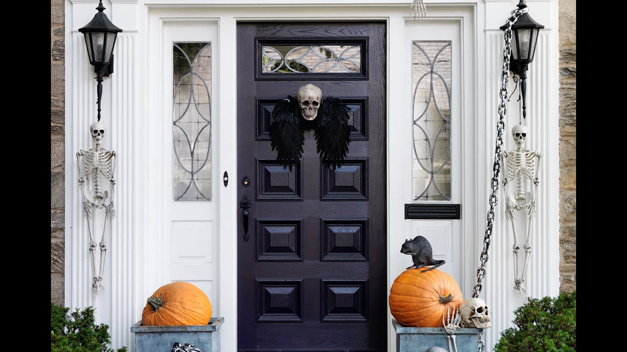 sc 1 st  YouTube & Spooky Halloween Decorations for Your Front Door | Real Simple - YouTube