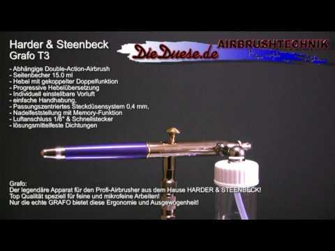 Harder /& Steenbeck Grafo T2 Airbrush Brand New