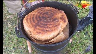 Brot Backen in der Natur im Dutch Oven - Baking bread in nature in Dutch Oven