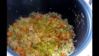 Старое блюдо на новый лад  Рис с овощами  Rice with vegetables