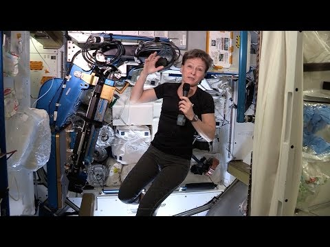 Peggy Whitson Demonstrates Exercises in Space | Video