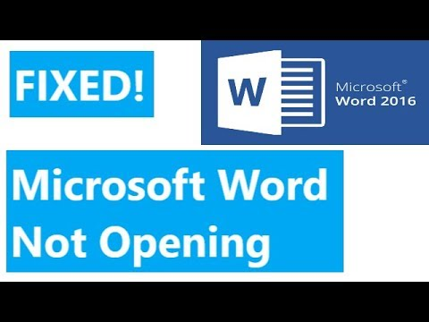 FIXED! Microsoft Word 2016 Not Opening / Ms Office 2016 Doesn't Open [SOLUTION]